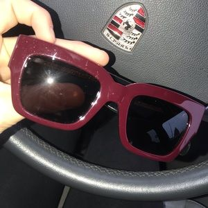 Celine burgundy sunglasses